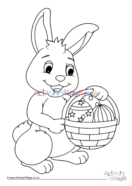 Easter Bunny Colouring Page 6