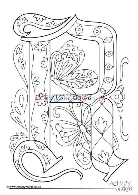 letter r coloring page # 27