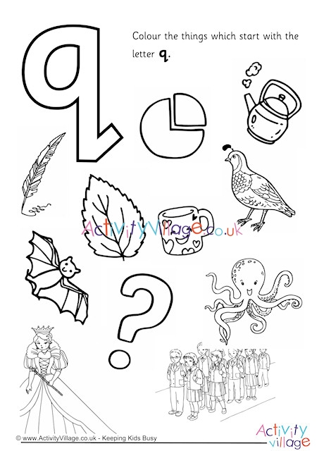 letter q coloring page # 15