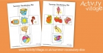 Learn Vocabulary with our Summer Vocabulary Dice
