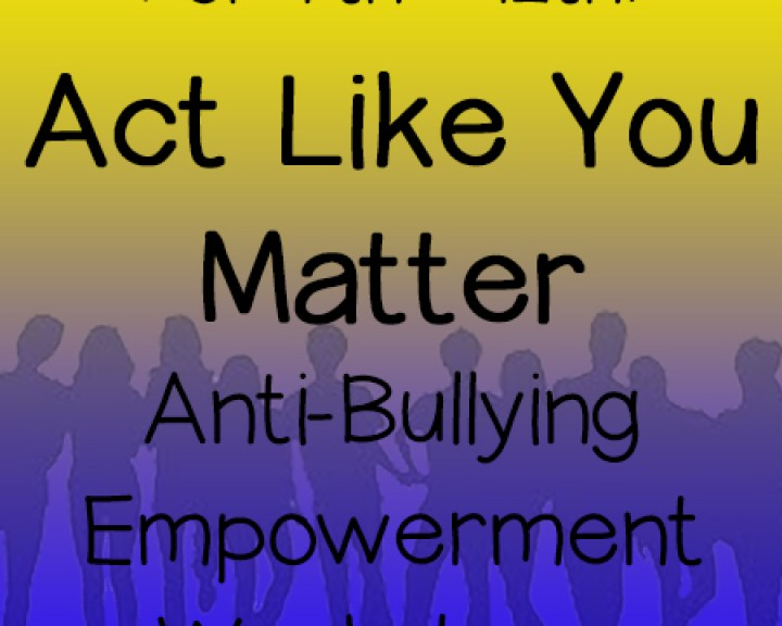 Act Like You Matter Anti-Bullying Workshops for 7th-12th Grades in San Diego. Performed by Theatre of Peace: Bullying Awareness Acting Troupe. Kids helping kids.