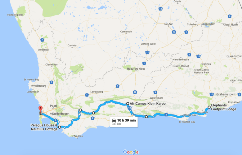 South Africa route