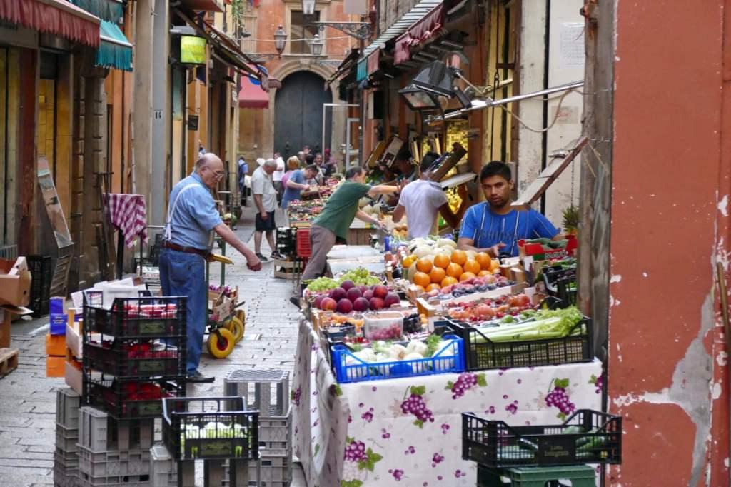 Bologna food market