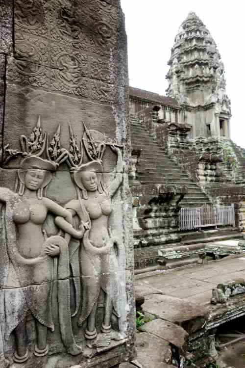 Inside Angkor Wat temple