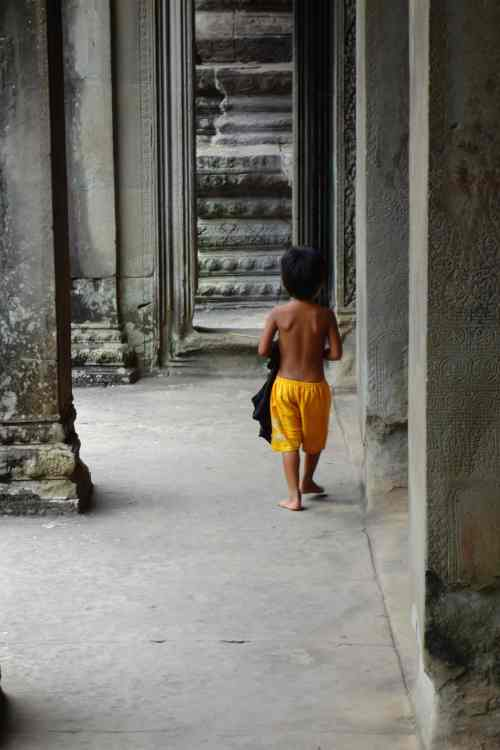 Boy Angkor temple