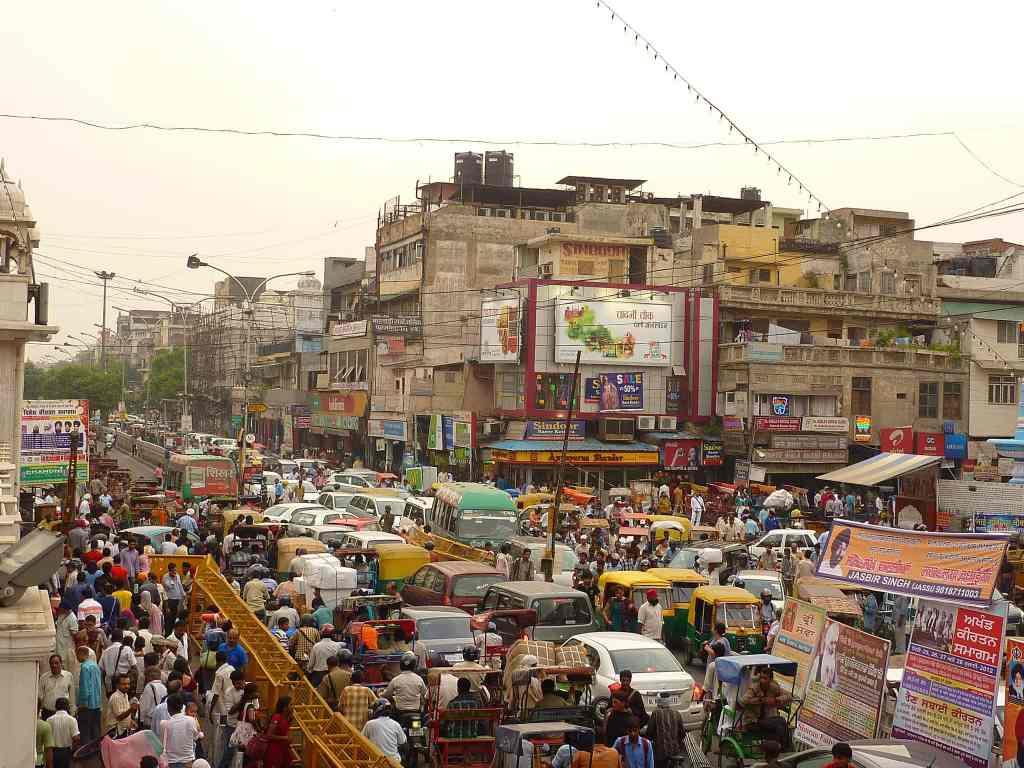 India traffic chaos