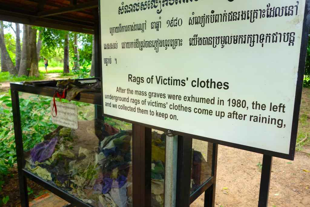 Victims clothes Killing Fields