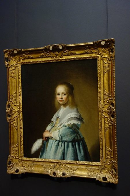 Verspronck portrait of a girl in blue