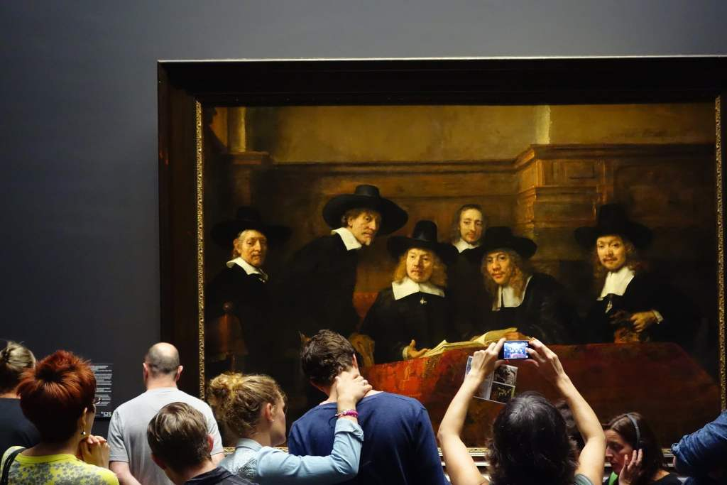 Busy day at Rijksmuseum