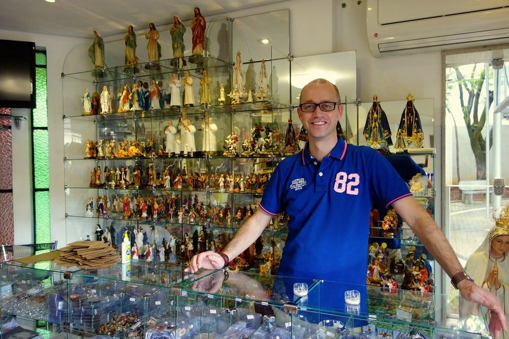 Me in the souvenir shop