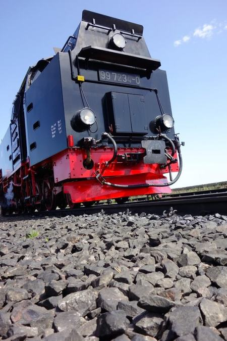 Brocken train up close
