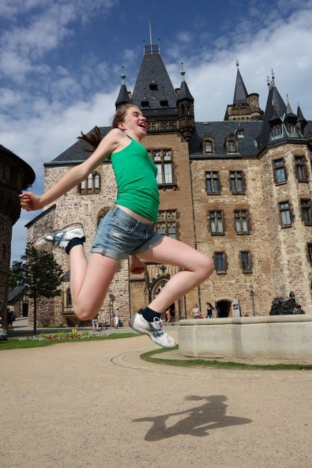 Jumping in front of Wernigerode castle