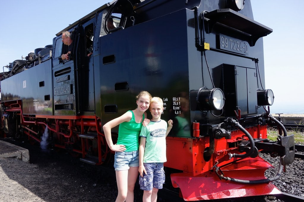 Posing with the Brocken train