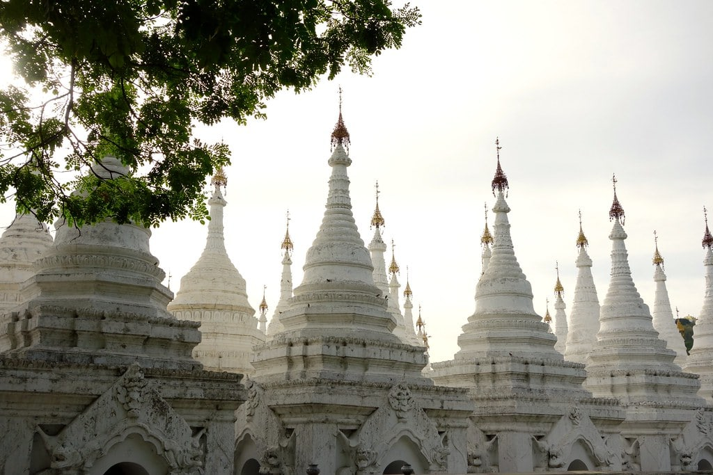 Whitewashed pagodas