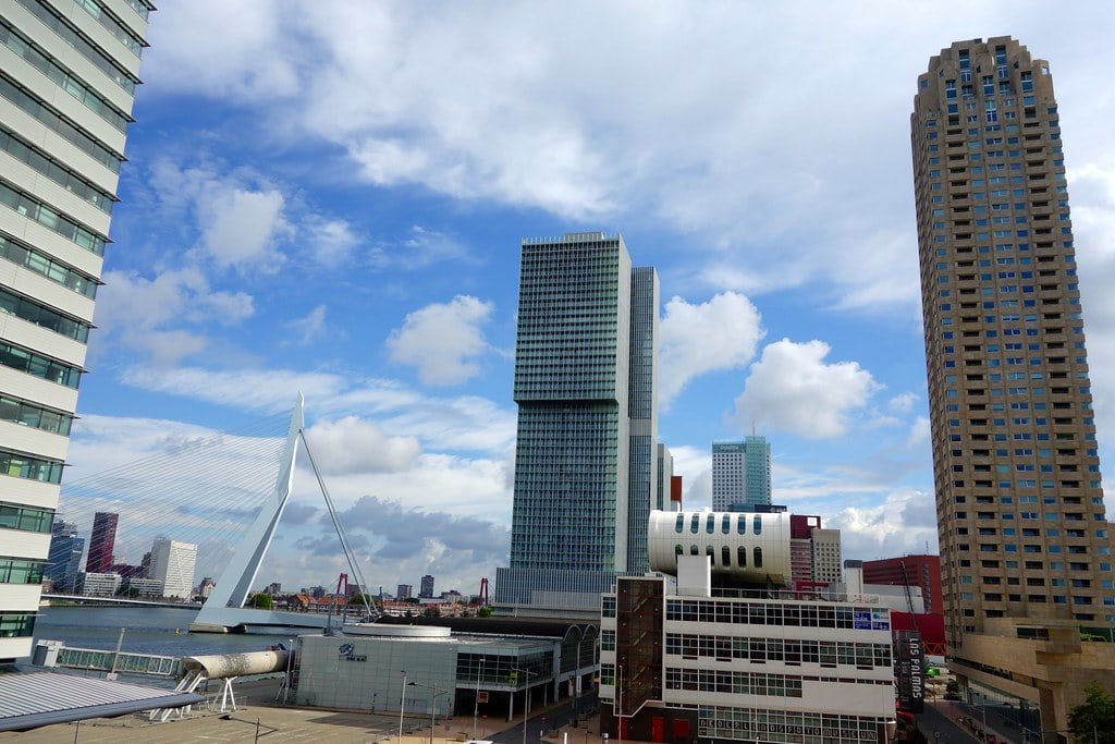 View on skyline Rotterdam