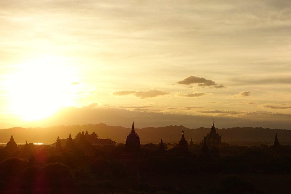 Stunning sunset in Bagan
