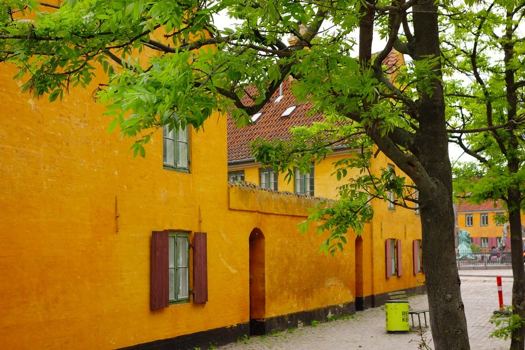 Yellow houses of Nyboder Copenhagen