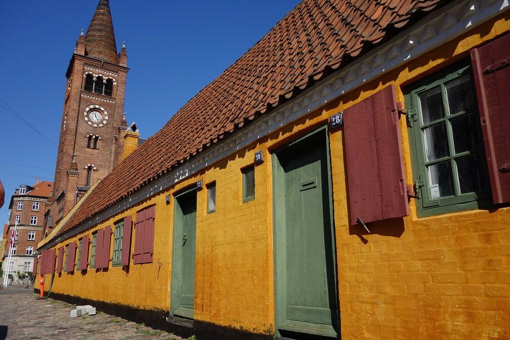 Yellow houses in Copenhagen