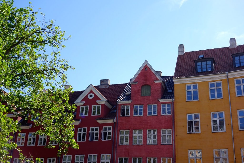 Colored houses Copenhagen