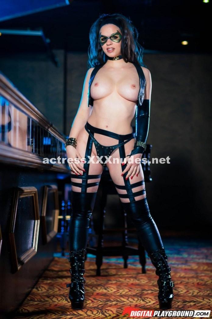 Nekane Sweet as a busty and sexy superhero from porno parody London Knights XXX
