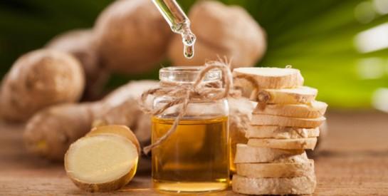 Des cheveux forts et brillants avec l'huile essentielle de gingembre