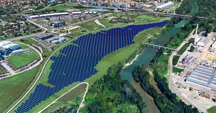 Projet photovoltaïque sur la friche AZF, source : Urbasolar