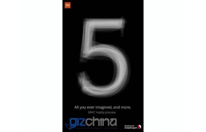 Xiaomi Mi 5 cartel mwc preview