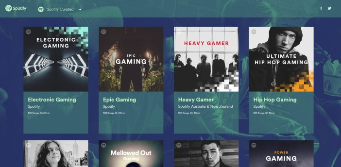 spotify gamers curated