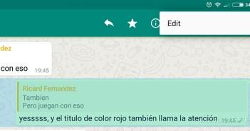 editar los whatsapps enviados