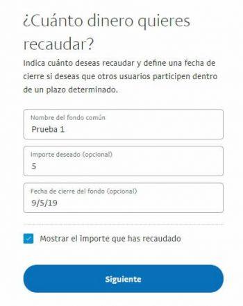 Cómo crear un fondo común en PayPal para recaudar dinero 2