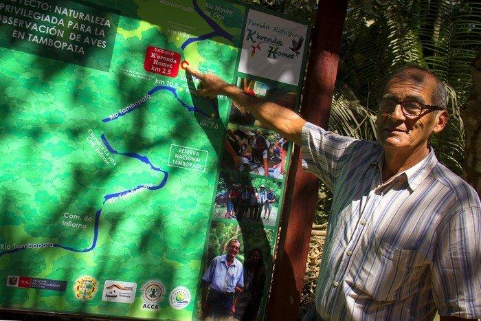 Víctor Zambrano en mapa de corredor_reencuadre