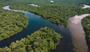 A minutos de la comunidad San Antonio se encuentran las aguas de los ríos Pintuyacu (aguas claras) y Nanay (aguas oscuras). Foto: SPDA/Spectabilis
