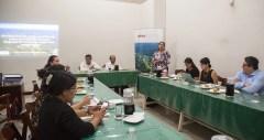 Andrea Tello, Coordinadora Regional de la SPDA - Iquitos, inaugura el curso y explica los objetivos.