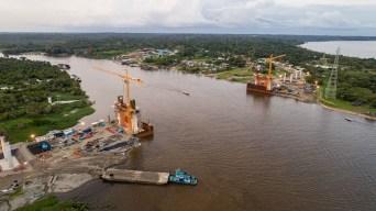 3.- Actualidad Ambiental constató los avances de la obra, ubicada sobre el río Nanay (Iquitos).