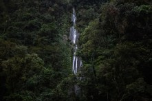 Concesión para Conservación El Breo, Alto Huayabamba - San Martin. Antes de llegar a la catarata El Breo, se pueden apreciar distintas caídas de agua en el camino. Esta se encuentra ubicada en la zona de amortiguamiento del Parque Nacional del Río Abiseo. Foto: Diego Pérez / GIZ