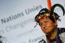 Lyndon Pishagua, líder Yanesha, acompañó la lucha de los pueblos de la Selva Central. Foto: REUTERS / Stephane Mahe