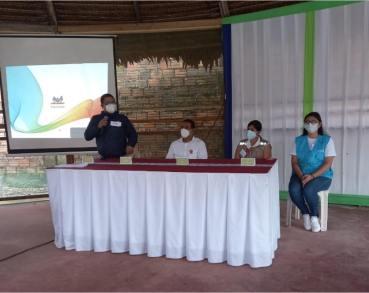 Líderes y lideresas indígenas participaron de taller informativo sobre la importancia de la vacunación en las comunidades indígenas. El evento fue organizado por las propias organizaciones indígenas del comando COVID-19. Foto: Orpio
