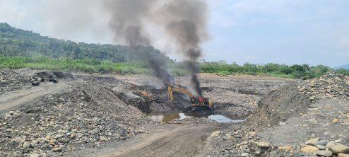 Operativo realizado en la zona de amortiguamiento del Parque Nacional Bahuaja Sonene. Foto: FEMA Madre de Dios