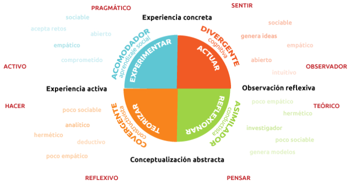 Dimensiones aprendizaje Kolb.
