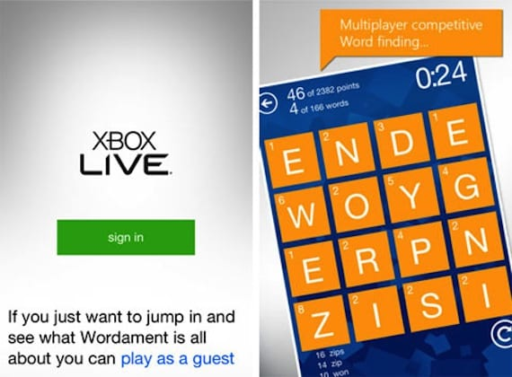 xbox1 Wordament para iOS con integración a Xbox Live