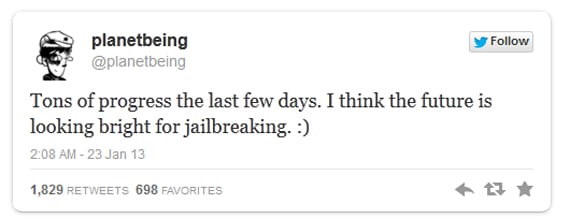 jailbreak futuro Planetbeing: El jailbreak tiene un gran futuro