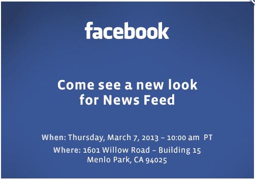 invitacion facebook Facebook prepara cambios en su diseño (sí, de nuevo)