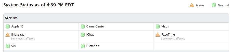 Screen Shot 2013 04 09 at 4.40.04 PM Caídas en los servicios de iMessage y FaceTime
