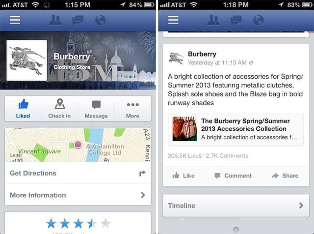 facebook pages Facebook rediseña el contenido de su aplicación Páginas