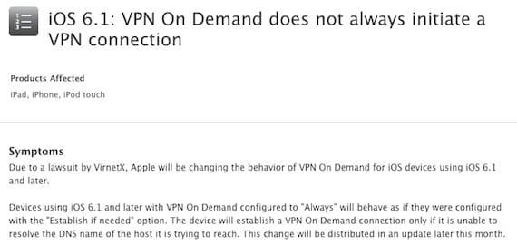 problemas vpn Apple lanzará una actualización de iOS para realizar cambios en la función VPN