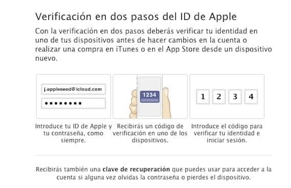 La verificación en dos pasos del ID de Apple ya disponible en España