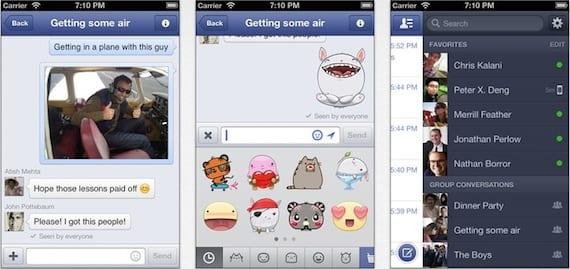 facebook messenger Facebook Messenger se actualiza para añadir stickers