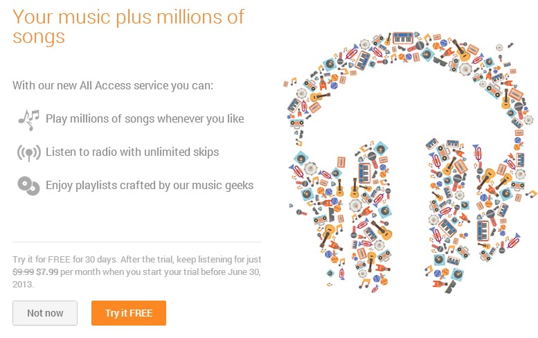 google play all music Google presenta su propio servicio de música en streaming