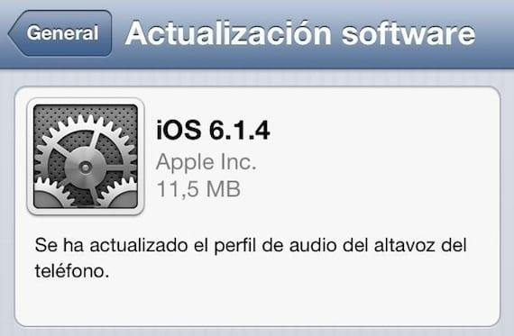 iOS 6.1.4 Apple lanza iOS 6.1.4 para el iPhone 5