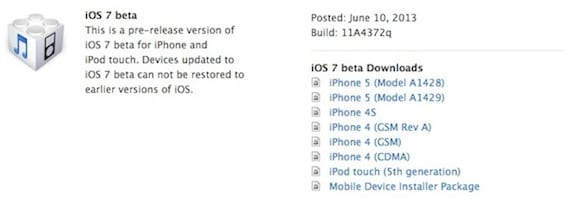 ios7 beta1 La beta de iOS 7 ya está disponible